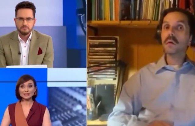 Во время прямого эфира на канале «Украина» в кадр попала голая женщина