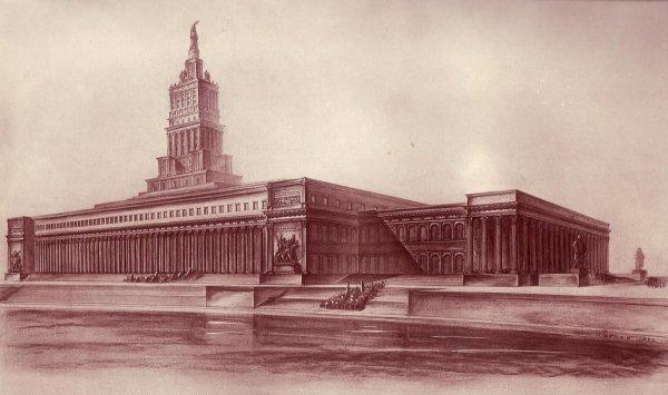 Один из проектов «Дворца Советов», Москва