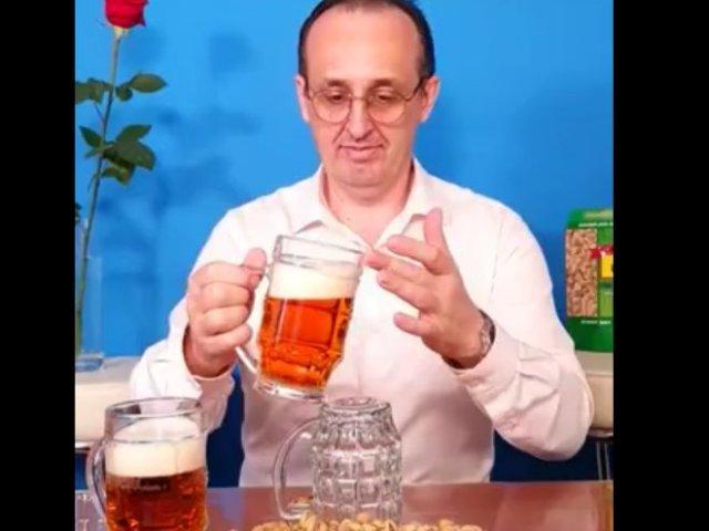 Идеальное чувство равновесия на примере пивных бокалов