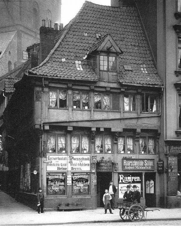 Самый старый дом в Гамбурге, Германия