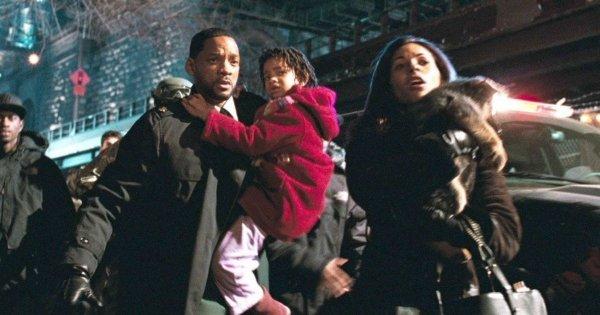 Съёмка эвакуации жителей Нью-Йорка, «Я — легенда» (2007)