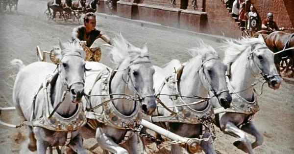 Сцена гонок на колесницах, «Бен Гур» (1959)