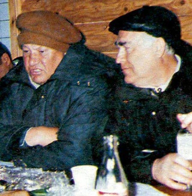 Борис Ельцин и Виктор Черномырдин, середина 90-х.