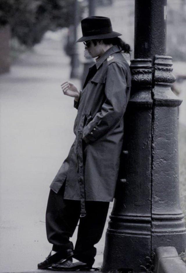 Майкл Джексон в Москве. Снимок сделан во время его первого визита в Россию. 1993 год.