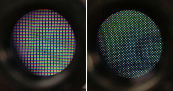 Разница между экранами iPhone 5S и Galaxy S6