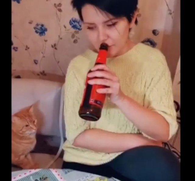 Кот выступает за здоровый образ жизни