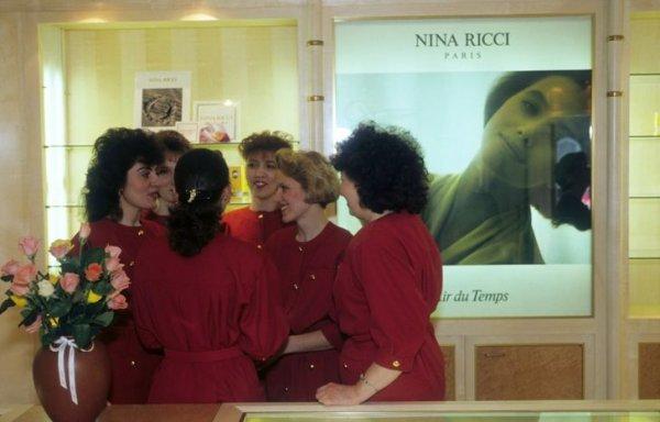 Бутик Nina Ricci. Москва, 1991