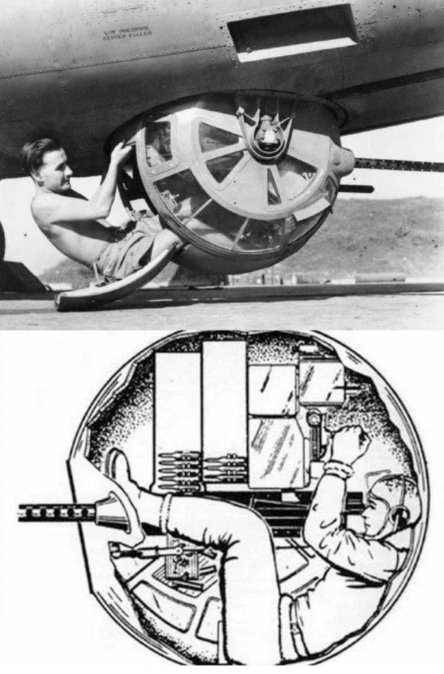 B-17, наводчик шаровой турели.