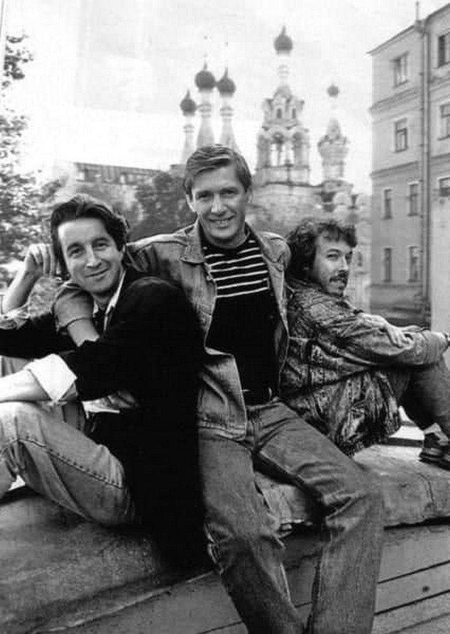 Лeoнид Ярмольник, Александр Aбдулов и Aндрей Maкаревич. СССР, 1987 год.