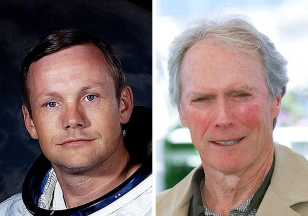 Нил Армстронг и Клинт Иствуд родились 1930 году