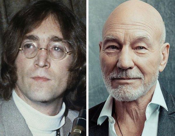 Джон Леннон и Патрик Стюарт родились в 1940 году