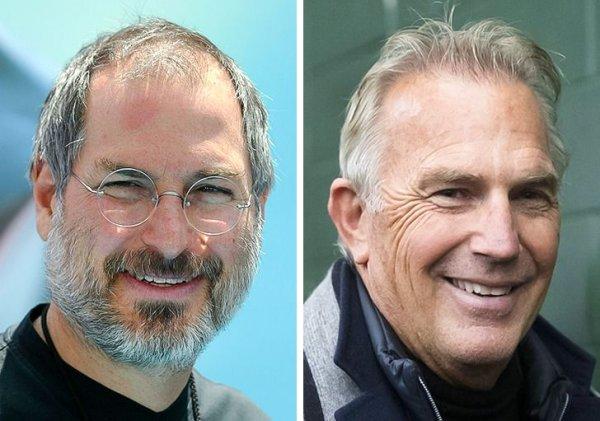 Стив Джобс и Кевин Костнер родились в 1955 году