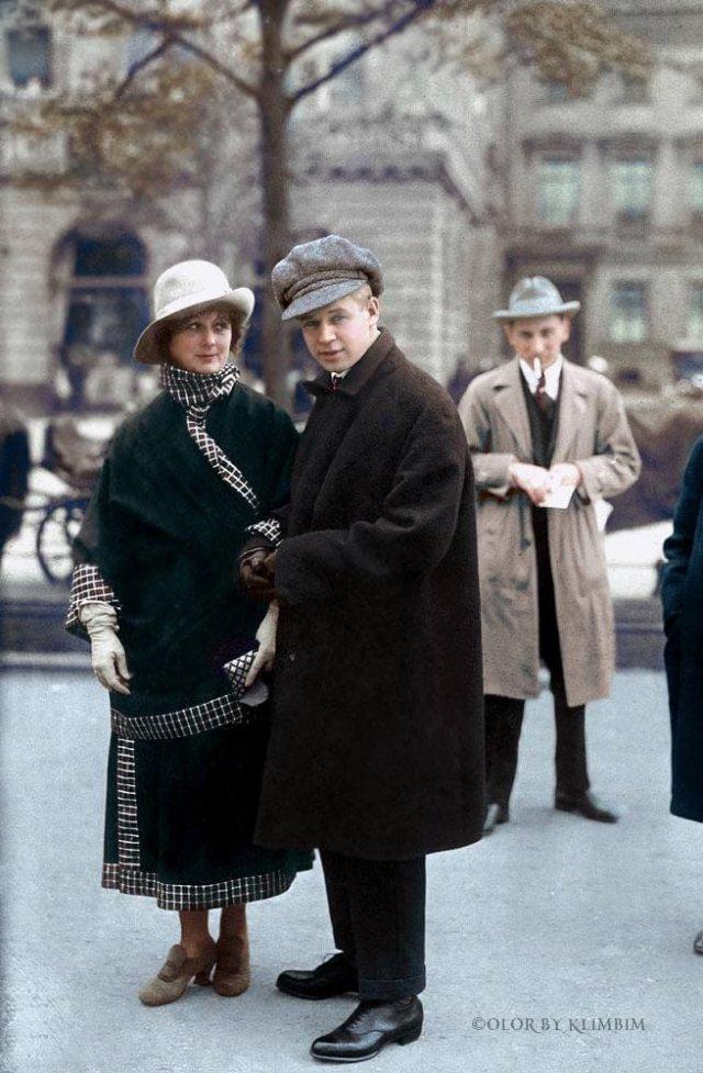 Сергей Есенин и Айседора Дункан. 1922 год.