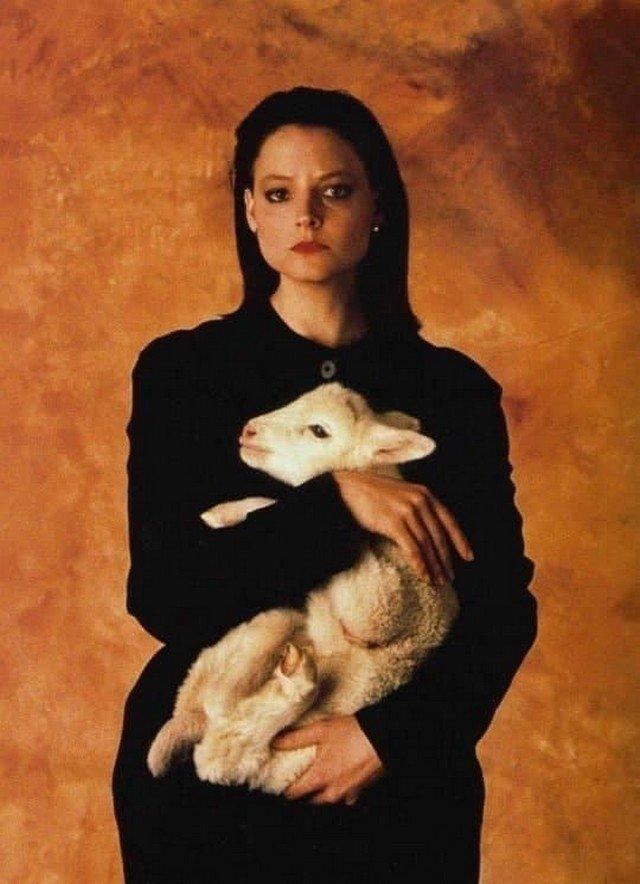 """Джоди Фостер на промо-фото """"Молчание ягнят"""", 1991 год."""
