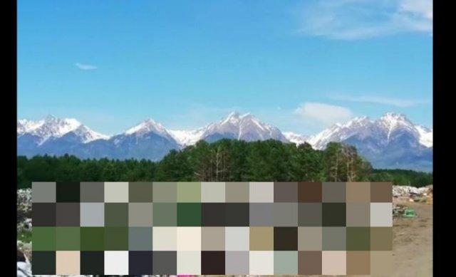 В Тункинском национальном парке устроили свалку прямо на фоне Саянских гор