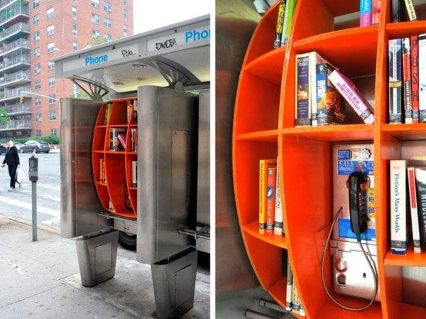 Мини-библиотека, где можно оставить или взять книгу