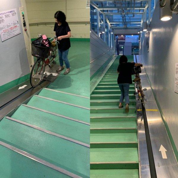 Станция метро, на которой есть специальный спуск для велосипедов
