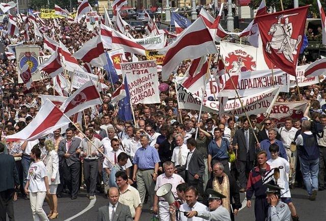 Митинг протеста против политики президента Александра Лукашенко