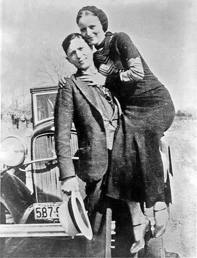 Легендapные гангстepы Бонни и Клайд. СШA, 1933 год