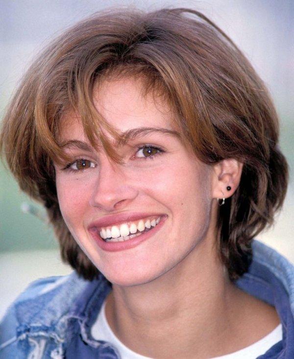 Джулия Робертс на кинофестивале во Франции. 1990 год