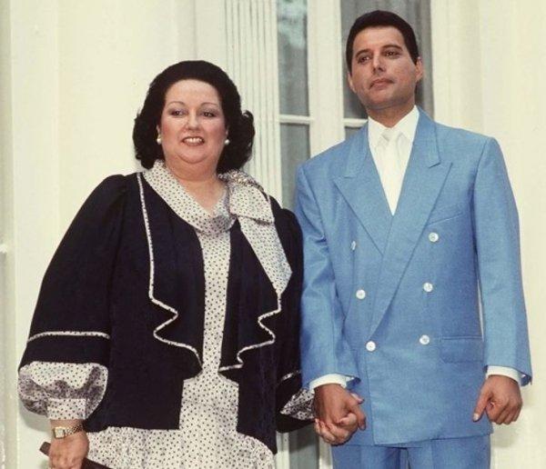 Оперная певица Монсеррат Кабалье и Фредди Меркьюри. 1987 год