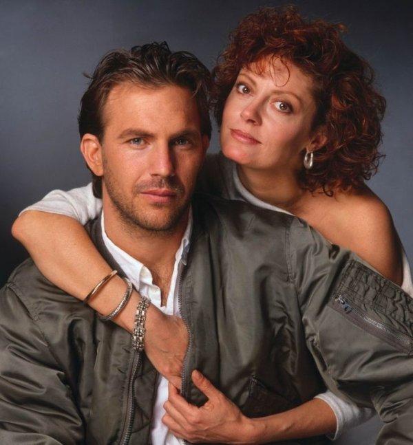 Кевин Костнер и Сьюзан Сарандон. 1988 год