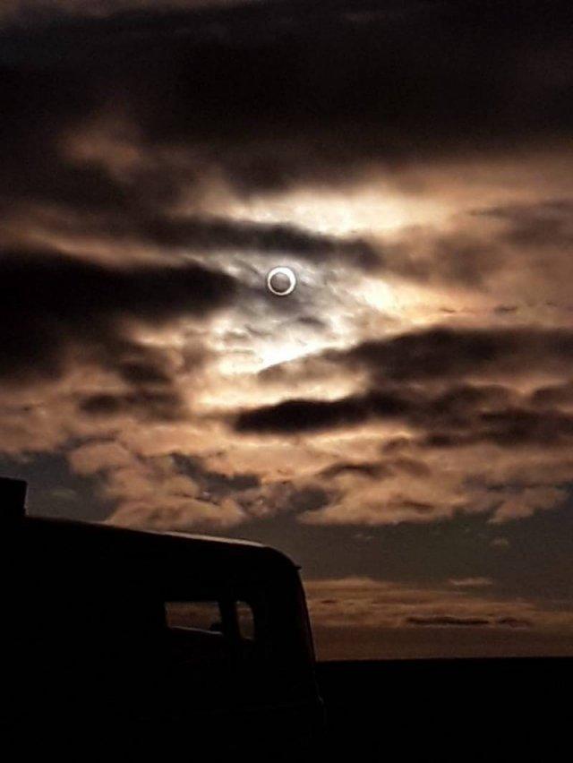 Cолнечное затмение в Якутске