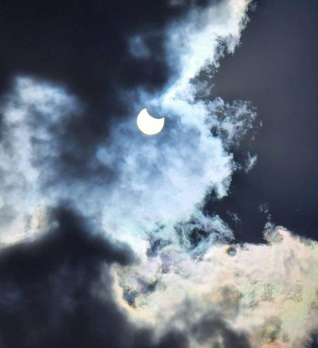 Кольцеобразное солнечное затмение, которого не было 55 лет