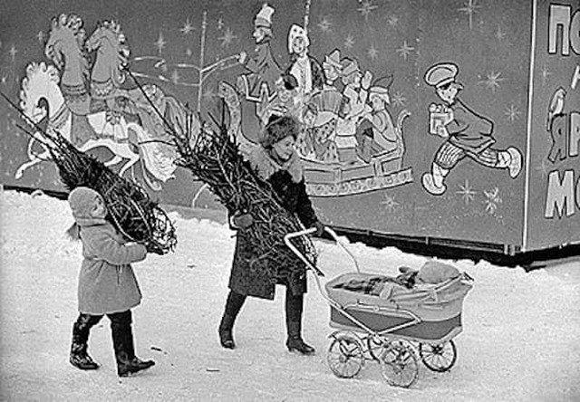 Перед Новым годом, СССР, 1960-е.