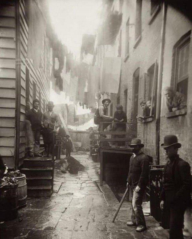 """""""Bandit's Roost"""", самая опасная улица в Нью-Йорке, 1888 год."""