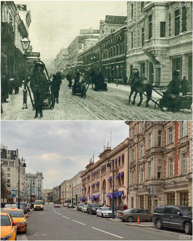 Улица Петровка от Кузнецкого Моста.