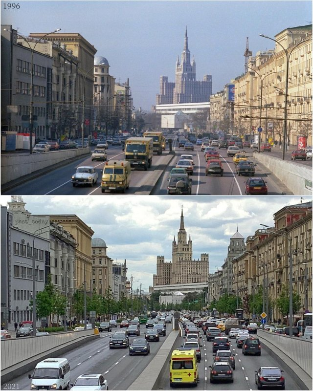 Москва. Вид Большой Садовой улицы от Триумфальной площади (площади Старых Триумфальных ворот)