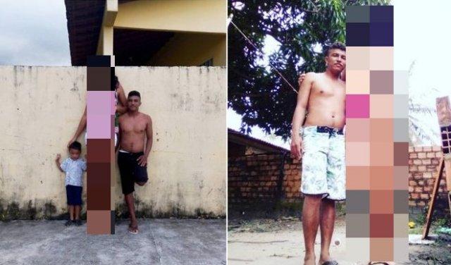 Парень начал встречаться с моделью по имени Элисане Сильва, которая на 41 сантиметр выше него