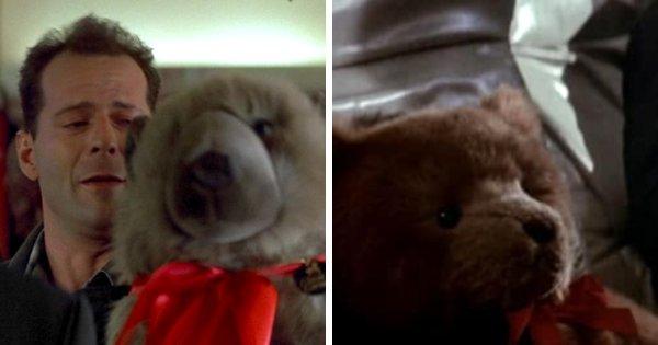 Медвежонок с красной ленточкой появляется и в «Крепком орешке», и в «Охоте за «Красным Октябрём»