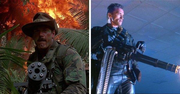 Миниган в фильмах «Хищник» и «Терминатор 2: Судный день»