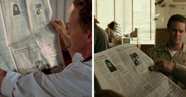 Газета с портретом девушки в различных фильмах и сериалах