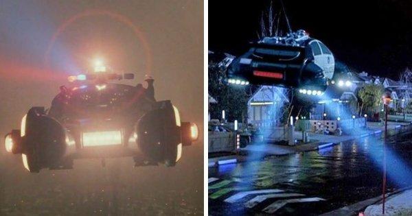 Летающие автомобили из «Бегущего по лезвию» появлялись в фильме «Назад в будущее 2»