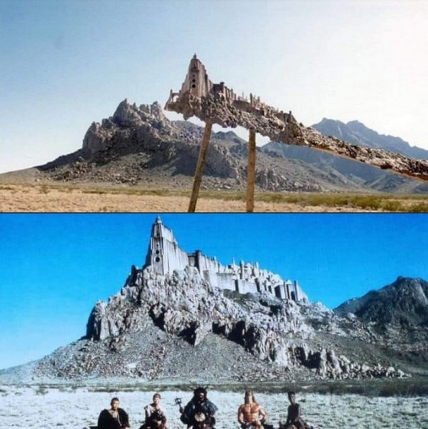 Как снималась крепость для фильма «Конан-разрушитель»