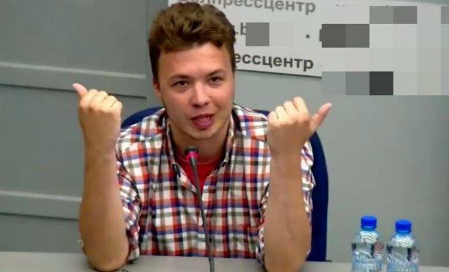 Роман Протасевич рассказал, что никто его не бил, и он чувствует себя прекрасно