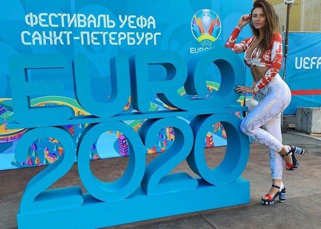 Самая красивая болельщица сборной Польши Марта Барцок на Евро-2020