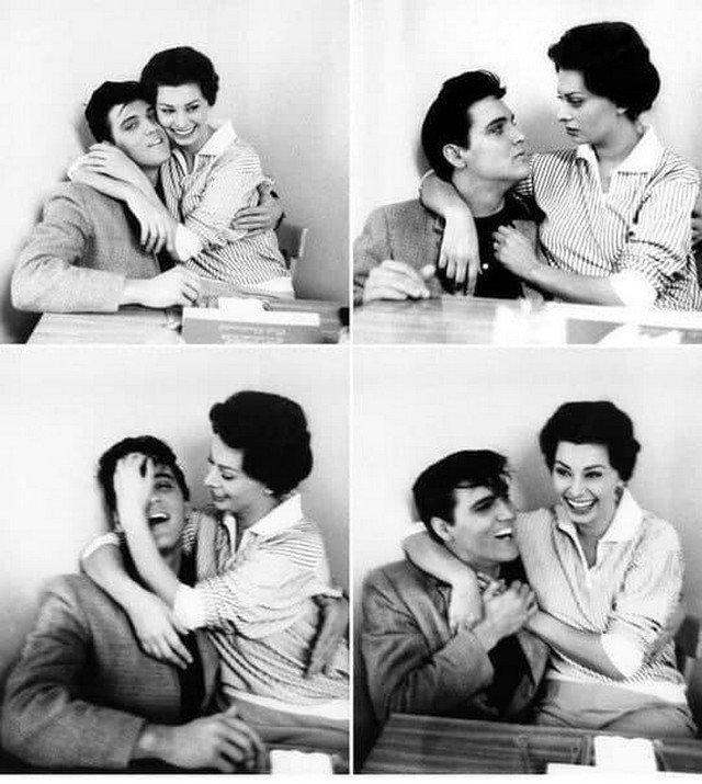 Элвиc Преcли и Coфи Лорен. 1958 год