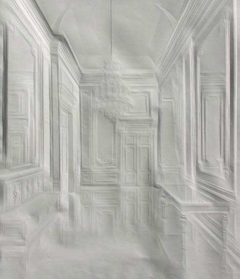 Саймон Шуберт создает произведения искусства, просто складывая белые листы бумаги