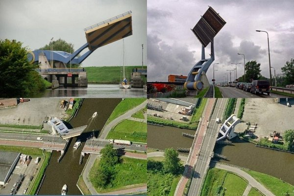 Раскрывающийся мост Slauerhoffbrug, Нидерланды