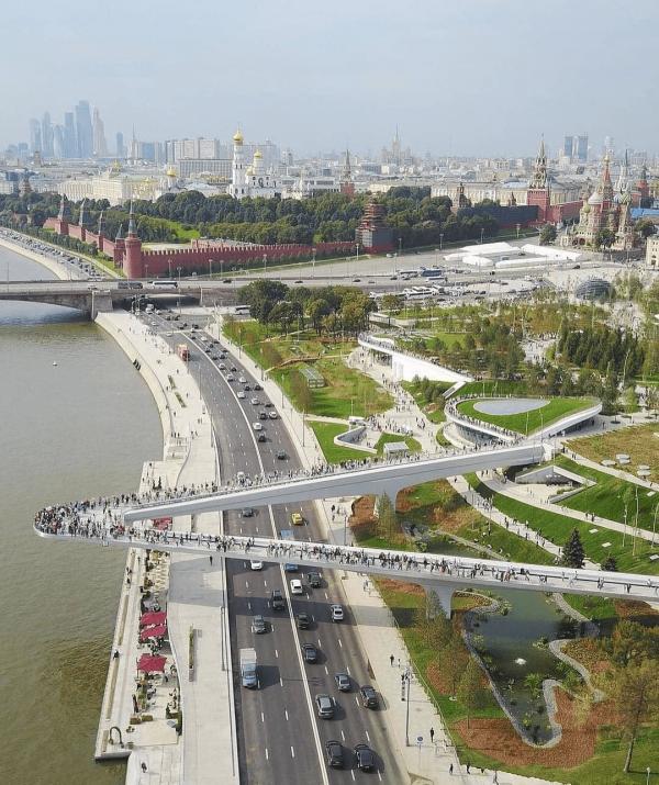 Парящий мост, Москва