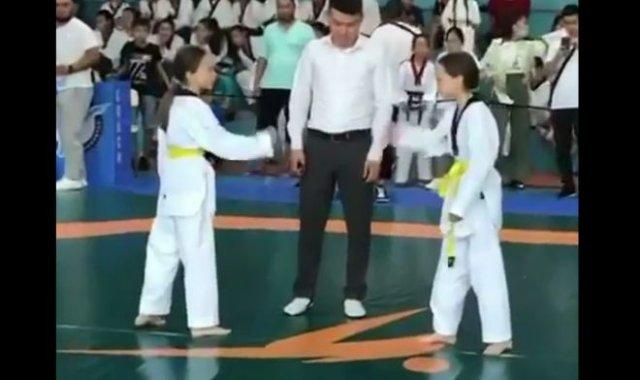 Две сестры не стали драться в финале по тхэквондо