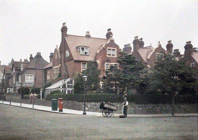 Так выглядел типичный буржуазный квартал в Англии, 1913 год.