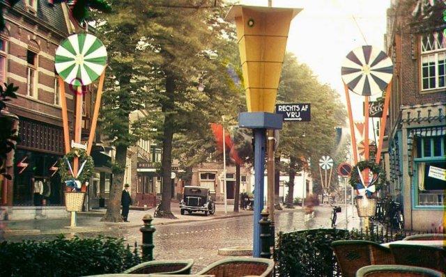Одна из улиц Хилверсюма. Нидерланды, 1936 год.