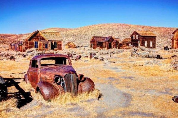 Заброшенная деревня в Боди, Калифорния