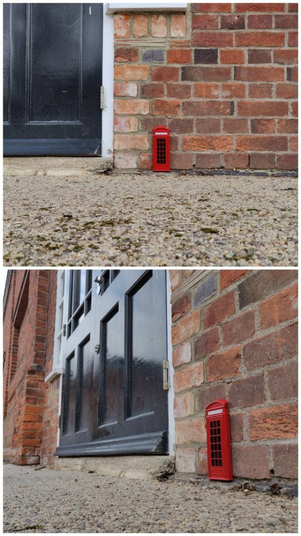 Я нашёл на улице миниатюрную телефонную будку