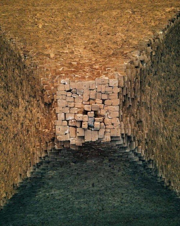 Как выглядит верхушка Пирамиды Хеопса